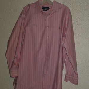 Ralph Lauren...pink pin stripes button down